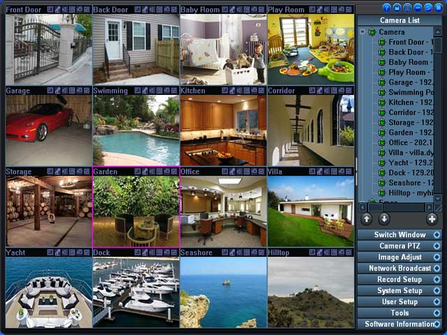 H264 WebCam HomePage (Video Surveillance System which